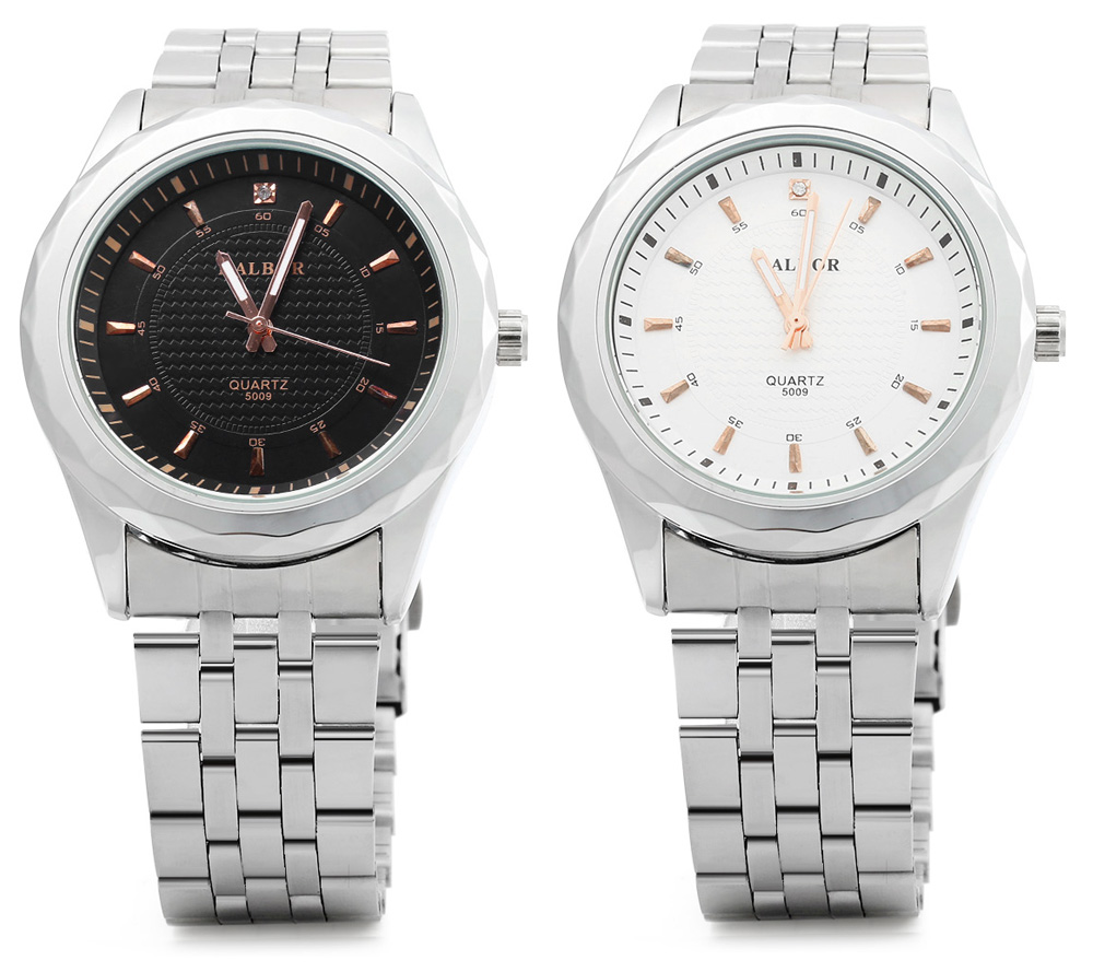 KALBOR 5009 Business Style Steel Band Male Quartz Watch