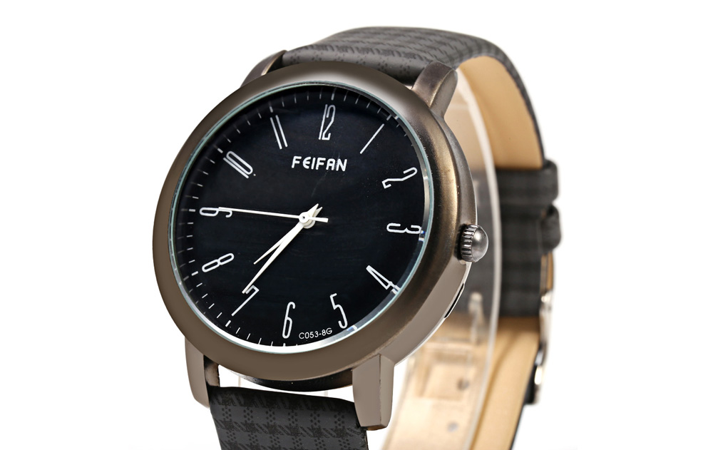 FeiFan C053 - 8 Business Style Male Quartz Watch with Grid Pattern Band