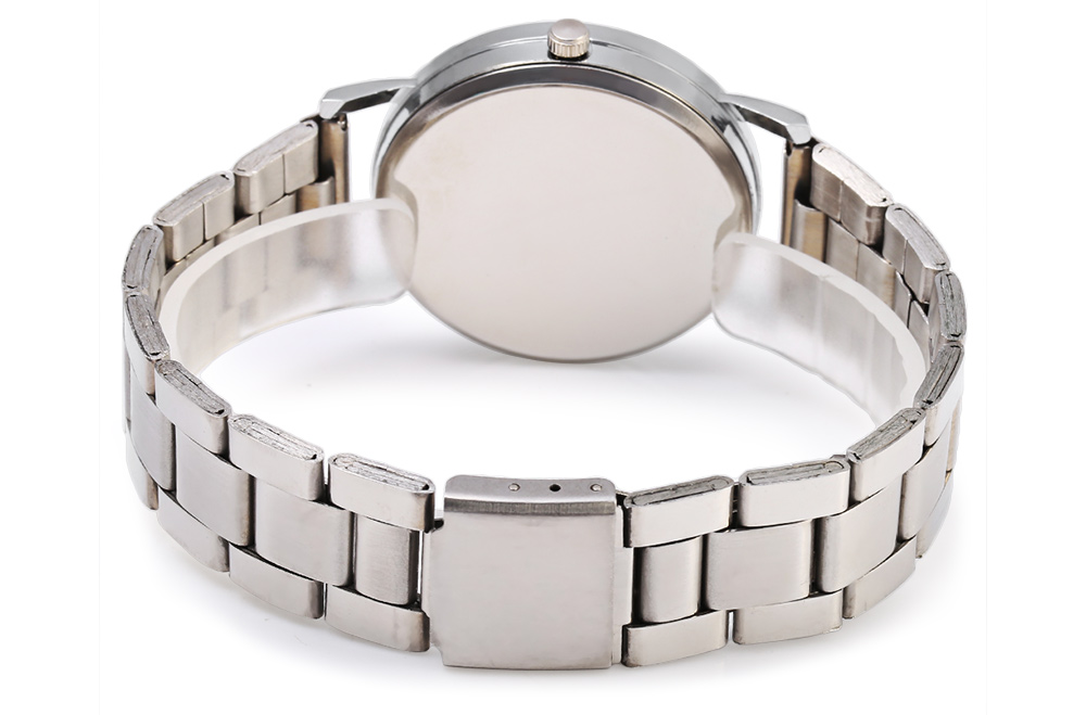 GENEVA 458 Business Style Steel Band Female Quartz Watch with Simple Dial Design
