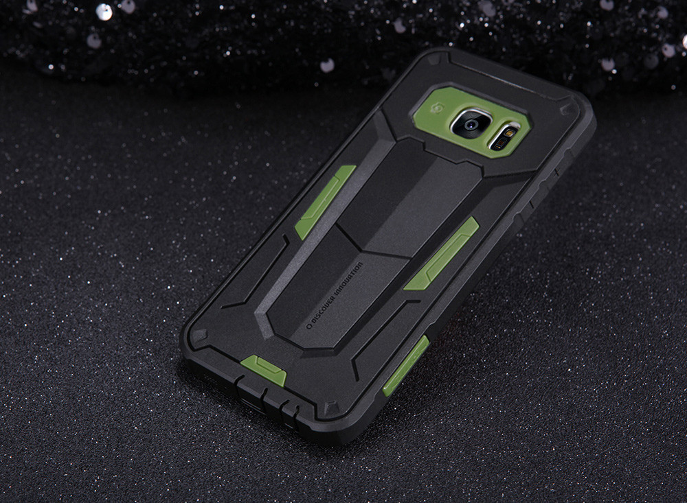 Nillkin Defender II Protective Back Cover Case for Samsung Galaxy S7 Edge Hollow-carved Design Mobile Protector
