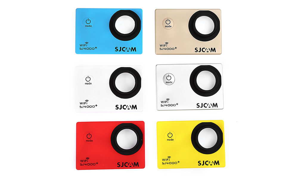 Original SJCAM 6PCS Backup Interchangeable Faceplate Replacement Skin Front Cover Shell for SJ4000 Plus Action Sport Cameras