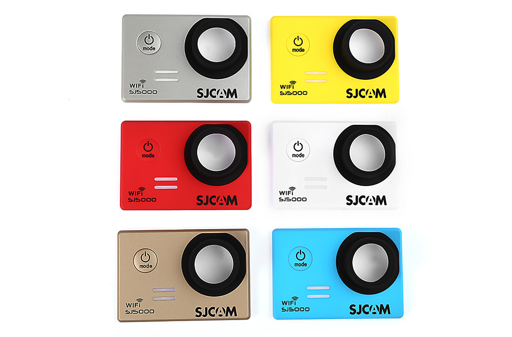 Original SJCAM 6PCS Backup Interchangeable Faceplate Replacement Skin Front Cover Shell for SJ5000 WiFi Action Sport Cameras