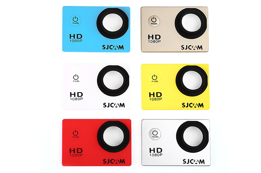 Original SJCAM 6PCS Backup Interchangeable Faceplate Replacement Skin Front Cover Shell for SJ4000 Action Sport Cameras