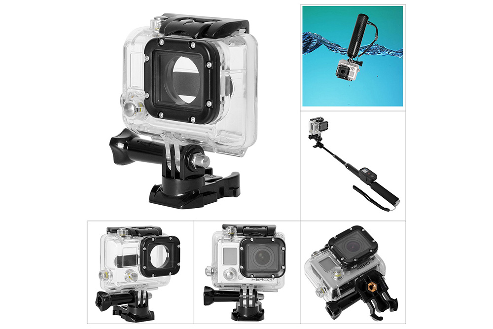 Fantaseal H - 3A1 45m Waterproof Cover Case Housing IP68 for GoPro Hero 3 / 3 Plus