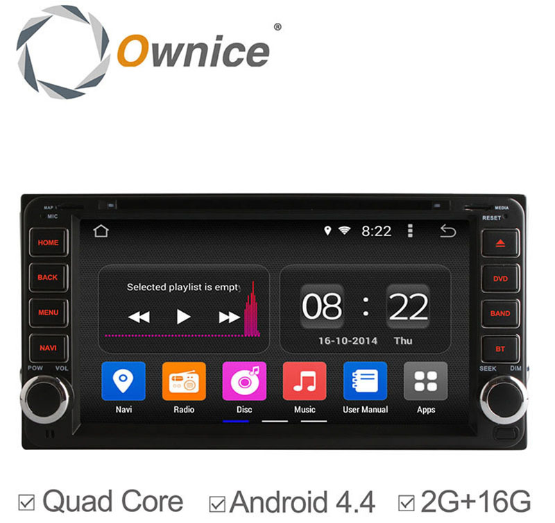 Ownice C180 - OL - 7699B 2 Din In-dash 6.95 inch Car GPS DVD Multi-media Player Android 4.4.2 RK3188 Cortex A9 Quad Core 2GB RAM 16GB ROM Bluetooth WiFi FM AM Touch Screen for Toyota