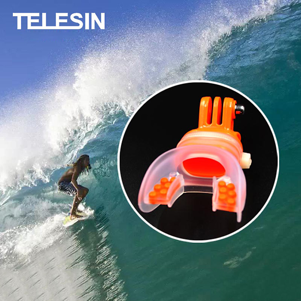Surfing Camera Accessory Mouth Mount Water Sports Holder Skiing Float for Action Camera