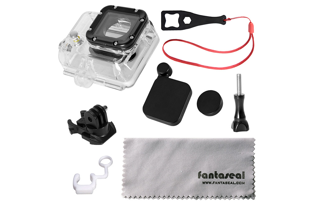 Fantaseal K - C60B 8 in 1 Side Opening Protective Cover Case Accessory Kit for GoPro Hero 3 / 3 Plus