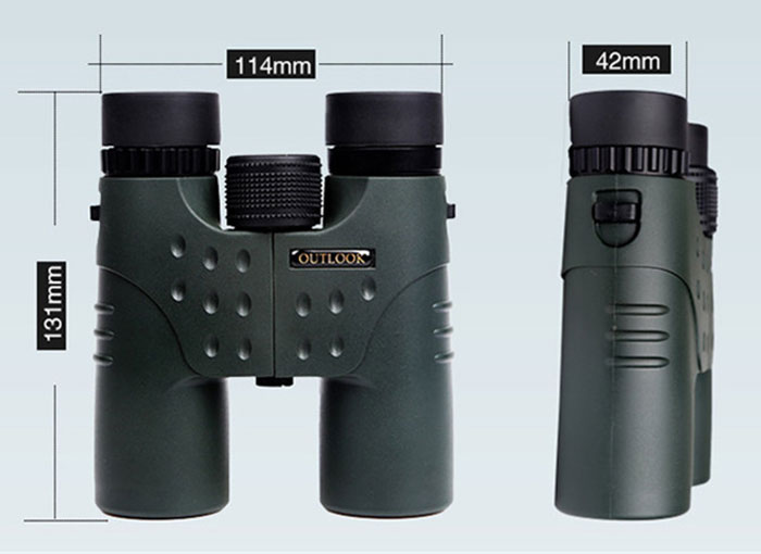OUT Look 12x32 Waterproof HD Binoculars with Roof BAK - 4 Prism Design for Traveling Hiking