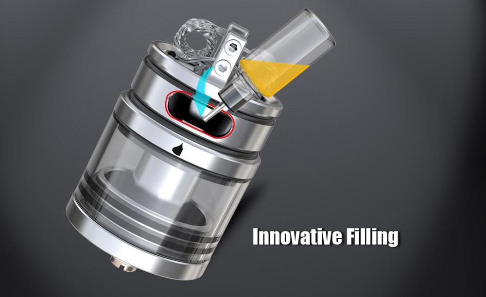IJOY Limitless Dual Post RDTA Atomizer with 4.0ml Capacity / Side Filling E Cigarette Rebuildable Dripping Tank Atomizer