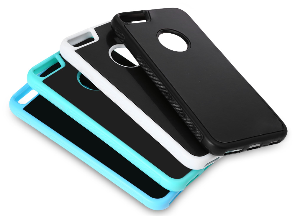 TPU Phone Cover Case Apertured Anti-gravity Flat Adsorption for iPhone 6 / 6S