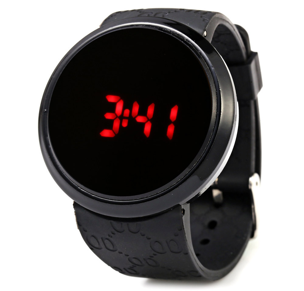 Casual Style Male LED Screen Touch Watch with Cute Pattern Strap