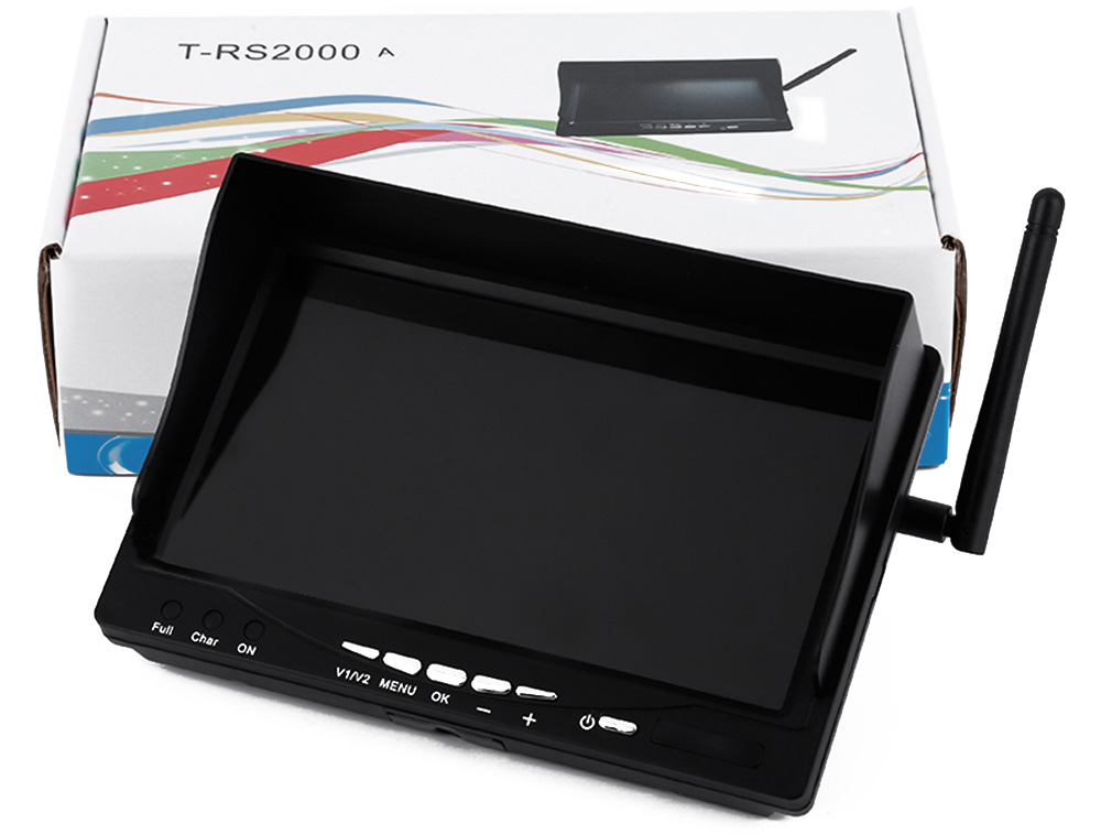 T - RS2000 Aerial 5.8GHz 7 inch QAV250 Display Monitor HD Screen with Cable Antenna