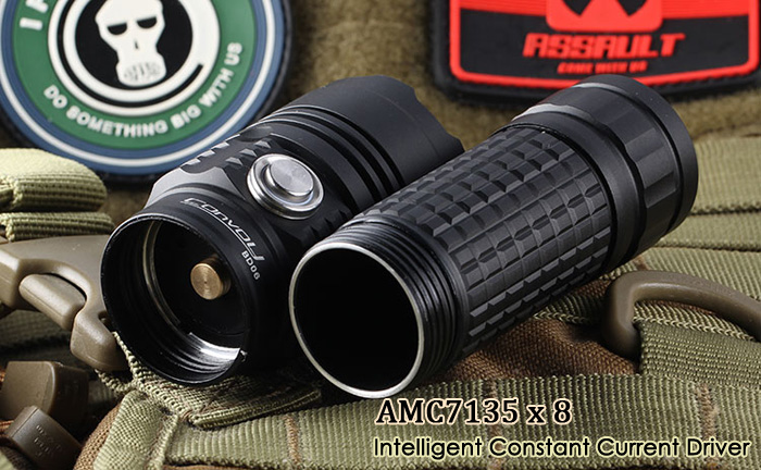 Convoy BD06 900LM Cree XM - L2 T6 4C Rechargeable LED Flashlight