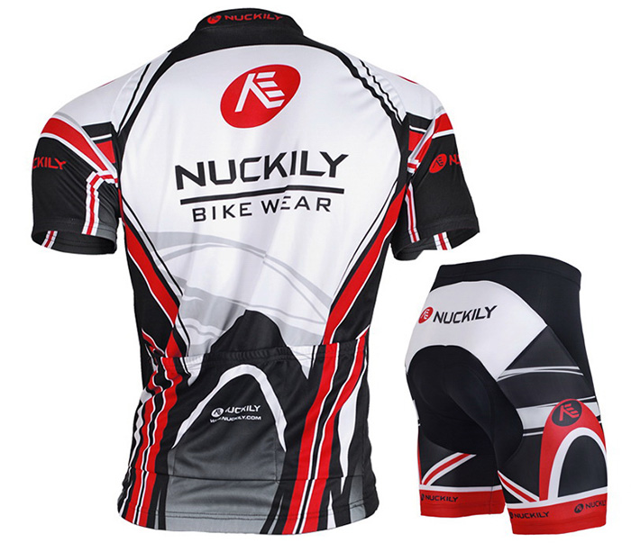 NUCKILY MA008 MB008 Men Polyester UV Resistant Bicycle Cycling Suit
