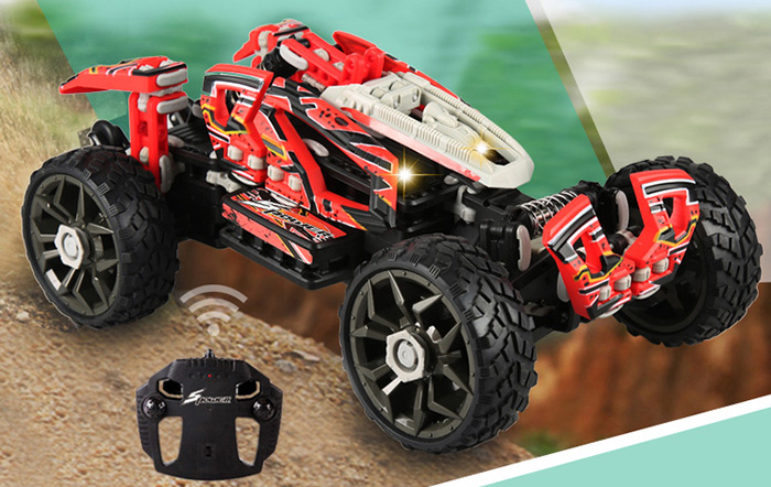 SDL 2014A - 2 30KM/H KIT RC Racing Car Off-road Vehicle Assembly Toy for Kid