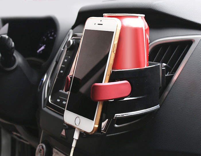 AX - A8 Multifunction Car Vent Phone Stand Drink Bracket Cup Holder
