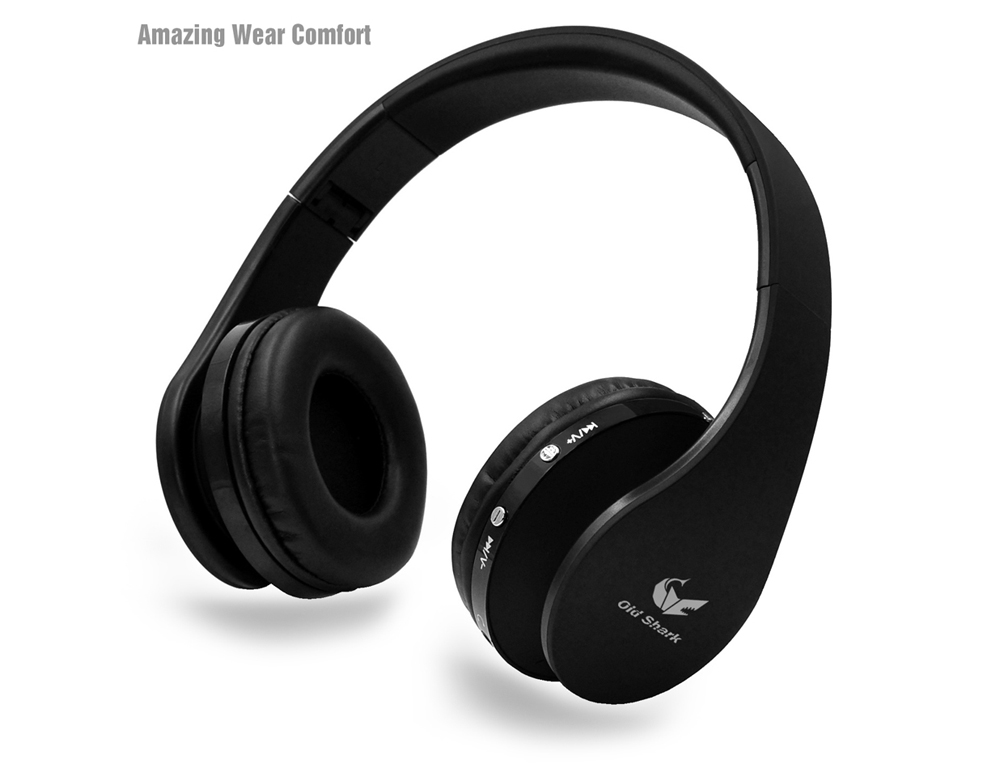Oldshark SIE00097B Wireless Bluetooth Headband Stereo Headphones with Microphone Support Hands-free Calls