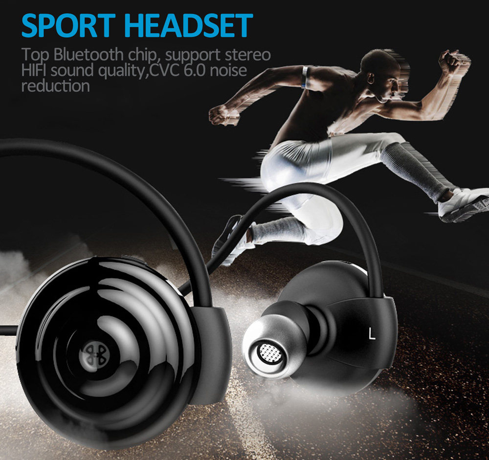 Oldshark SIE00130B Wireless Bluetooth In-ear Sport Earbuds with Mic Support Hands-free Calls NFC Function