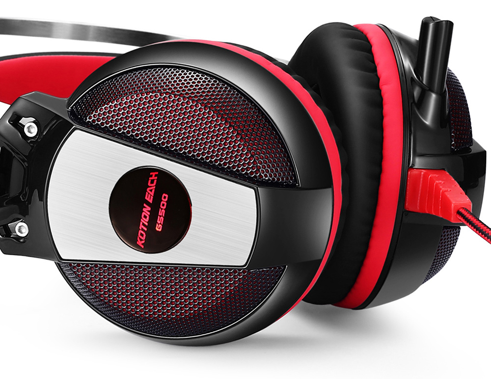 KOTION EACH GS500 Gaming Headsets Headphones with LED Light Microphone Noise Canceling for PS4 / PC / Mobile Phone