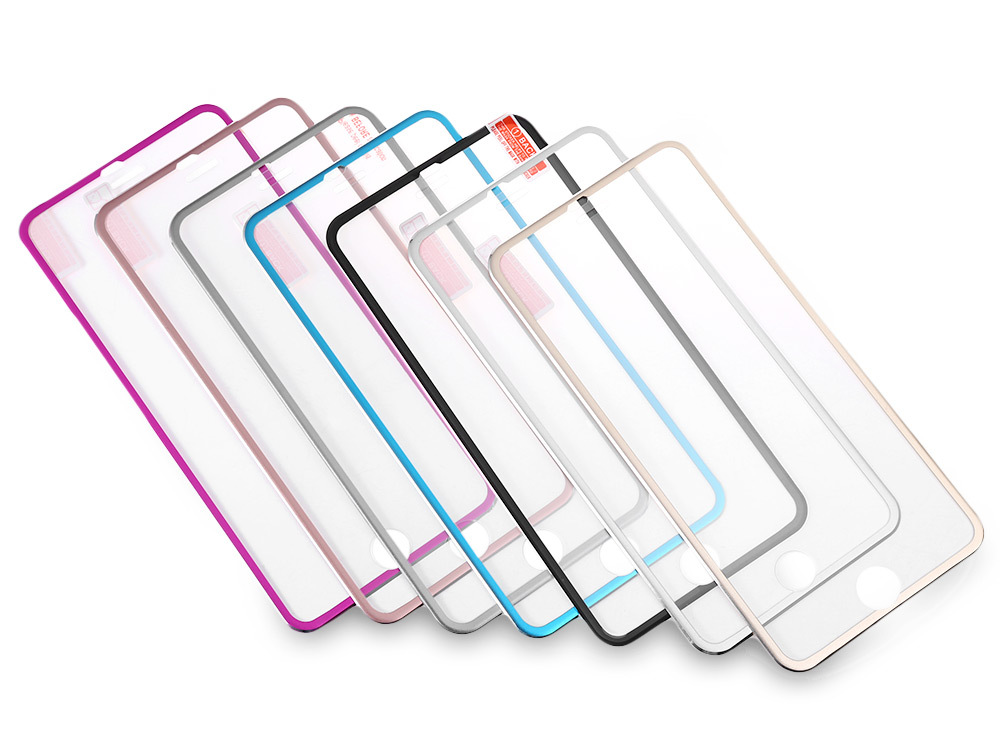 Tempered Glass Film Metal Wrap-around HD Screen Protector for iPhone 6 Plus / 6S Plus