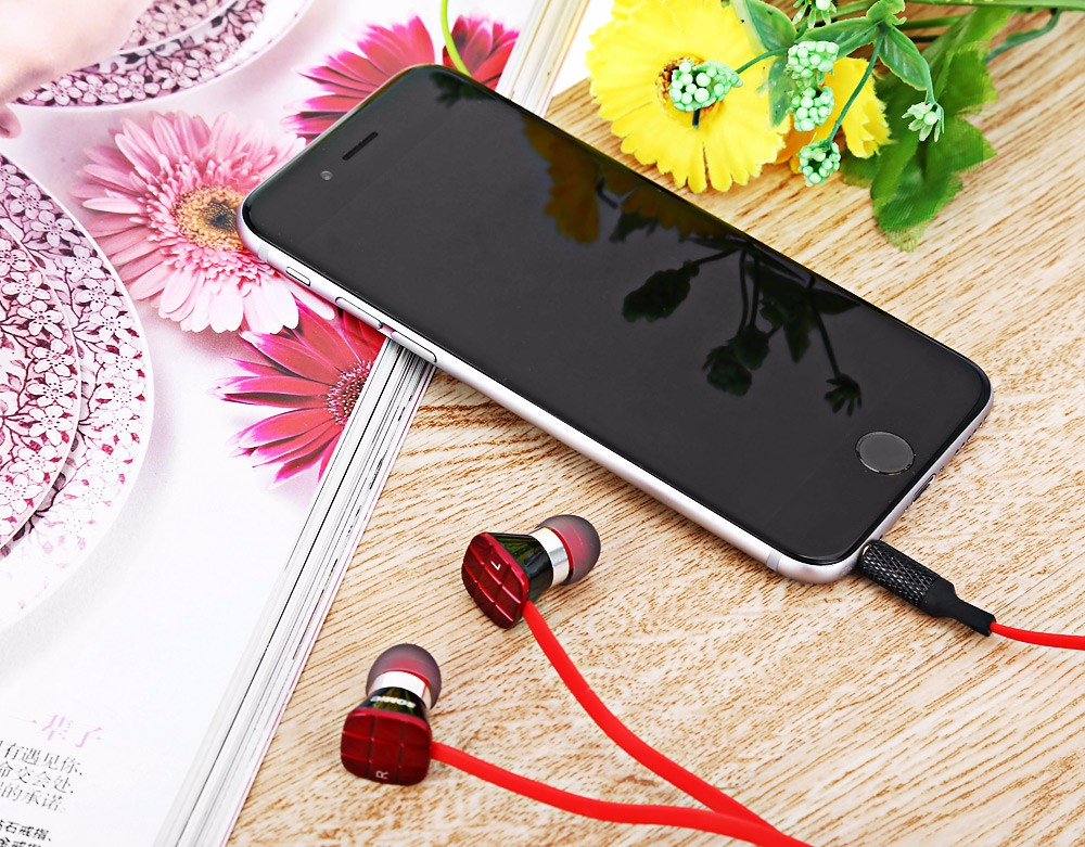 Somic L1 3.5mm Jack Bass HiFi In-ear Earphones with 9mm Moving Coil Unit