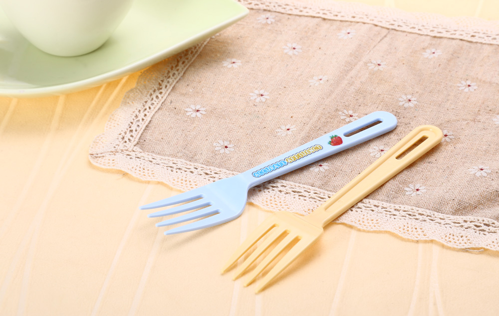 12PCS Colorful PP Fork Kitchen Tool Dinnerware Tablespoon