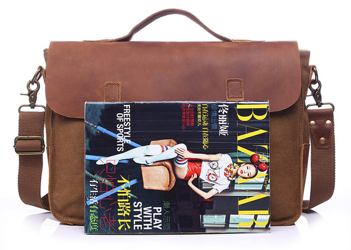Kabden YD006 9L Sling Bag Canvas Schoolbag Portable Briefcase for Men