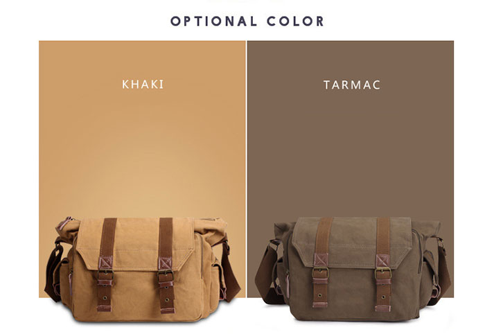 Kabden 8834 16L Canvas Sling Photography Bag for Outdoor Climbing Traveling