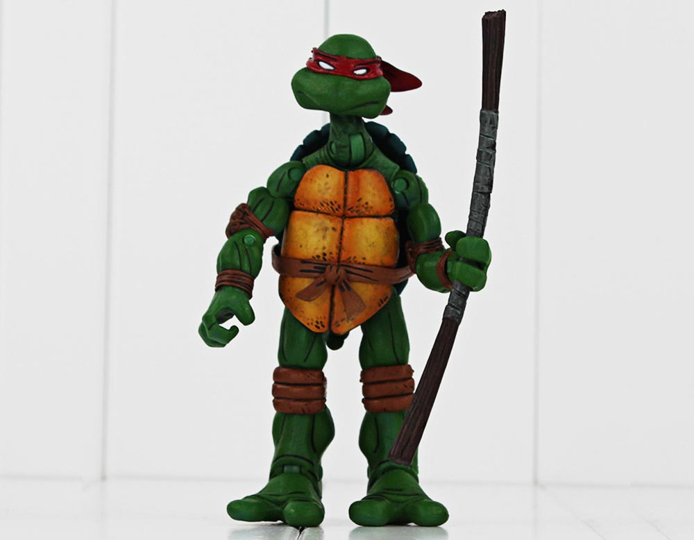 5.5 inch Cartoon Turtle Character Plastic Action Figure Movable Joint Toy Home Office Decoration - 4Pcs