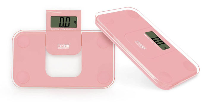 YESHM YHB1007 Cute Precision Body Fat Scales Electronic Personal Weighing Tool with LCD Display