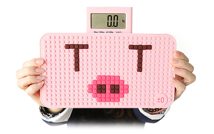 YESHM YHB1305 DIY Puzzle Shape Precision Body Fat Scales Electronic Personal Weighing Tool with 1.14 inch LCD Display
