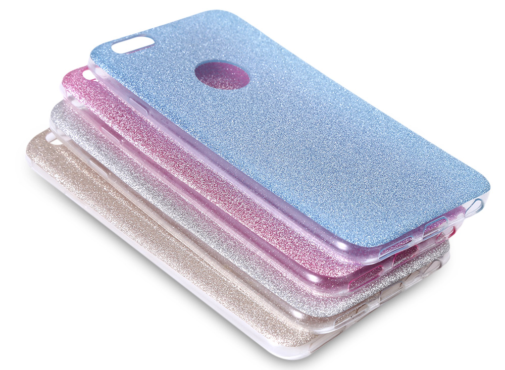 TPU Phone Case Glitter Soft Protective Cover for iPhone 6 / 6S
