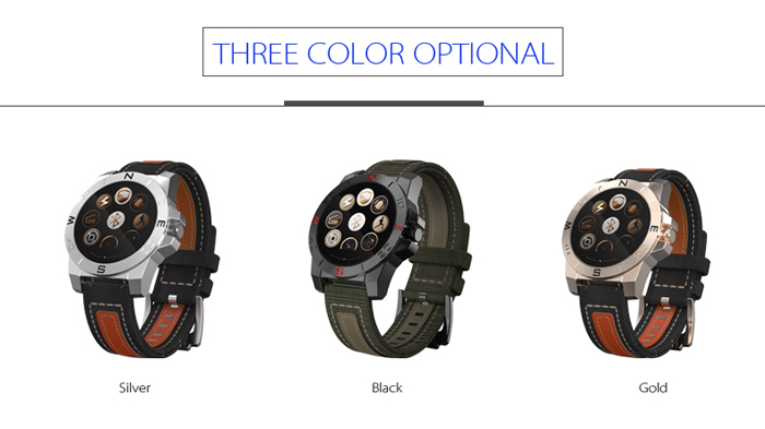 N10B Bluetooth 4.0 Smart Sports Watch with Compass Thermometer Barometer Altimeter IP54 Heart Rate Monitor