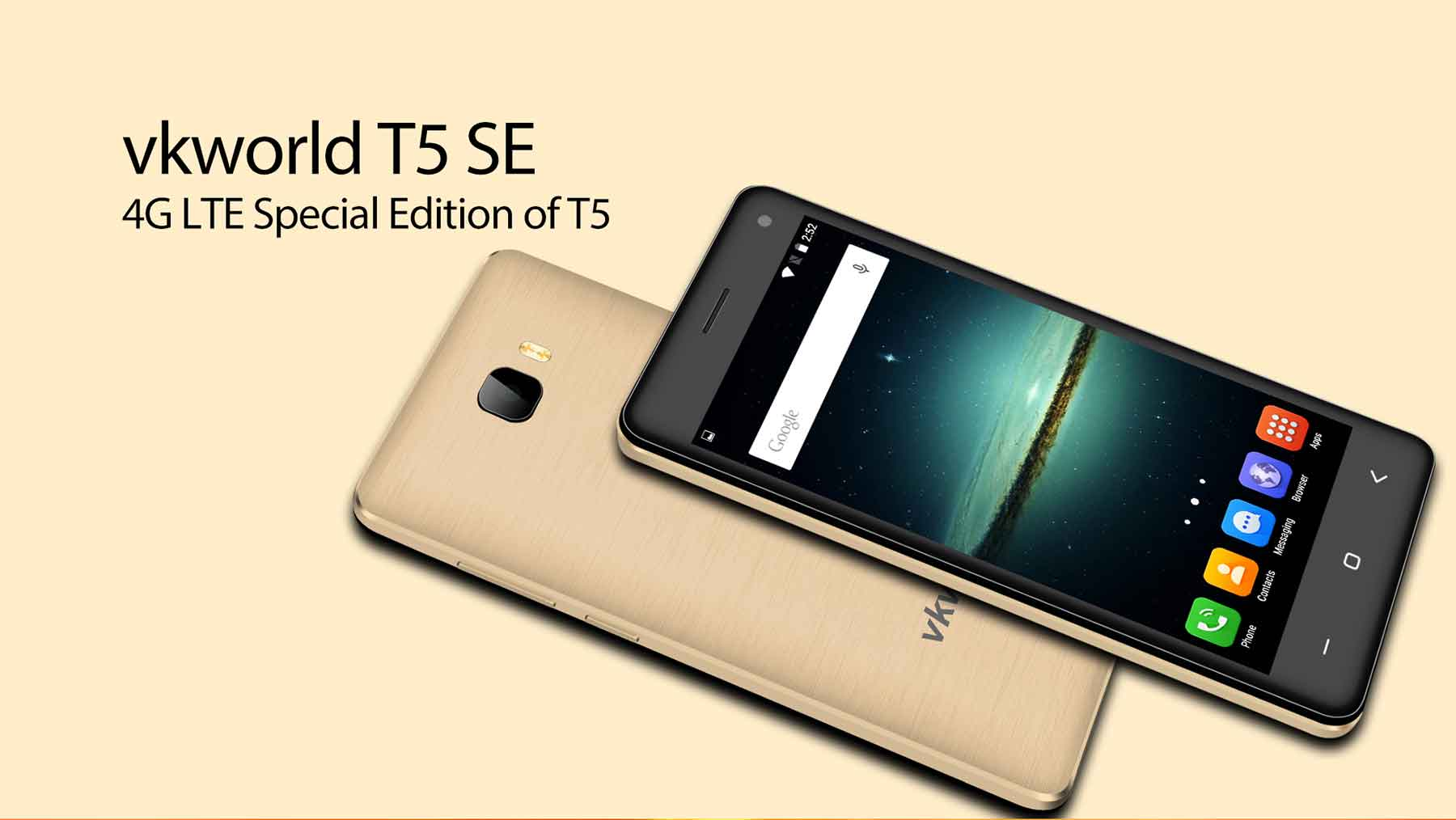 VKworld T5 SE Android 5.1 4G Smartphone 5.0 inch HD Screen MTK6735 Quad Core 1.0GHz 1GB RAM 8GB ROM Cameras Dual WiFi Bluetooth 4.0