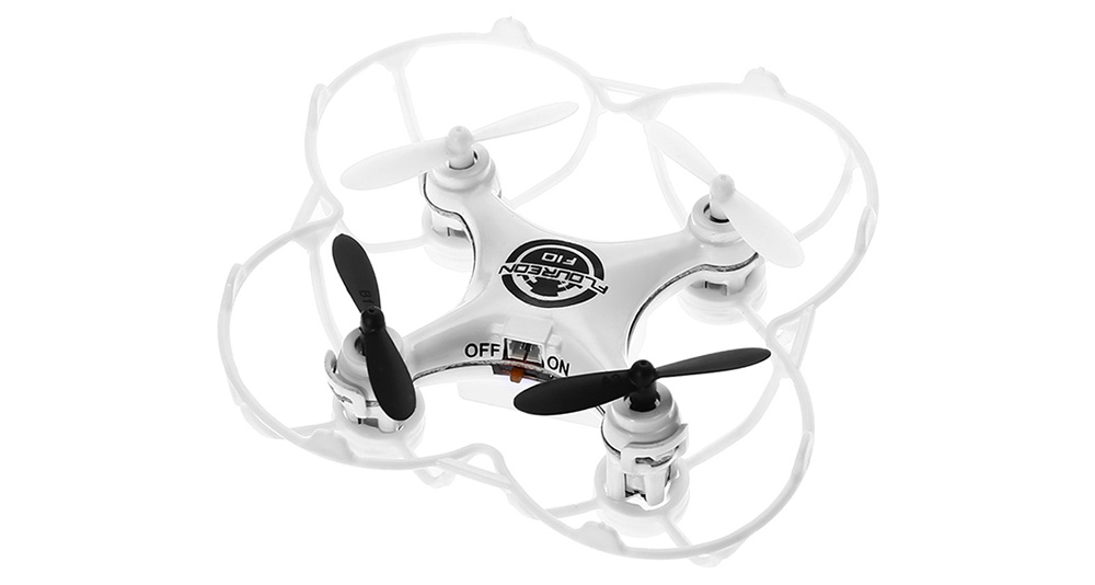 Floureon F10 UFO 2.4GHz Transmitter 4CH 6-axis-gyro Mini RC Quadcopter One Press Return