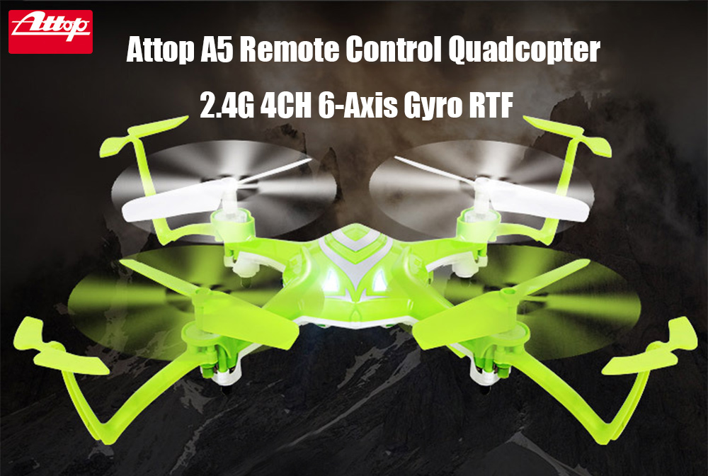 Attop A5 2.4G 4CH 6-Axis Gyro RTF Remote Control Quadcopter 180 / 360 Degree Flips Drone Toy