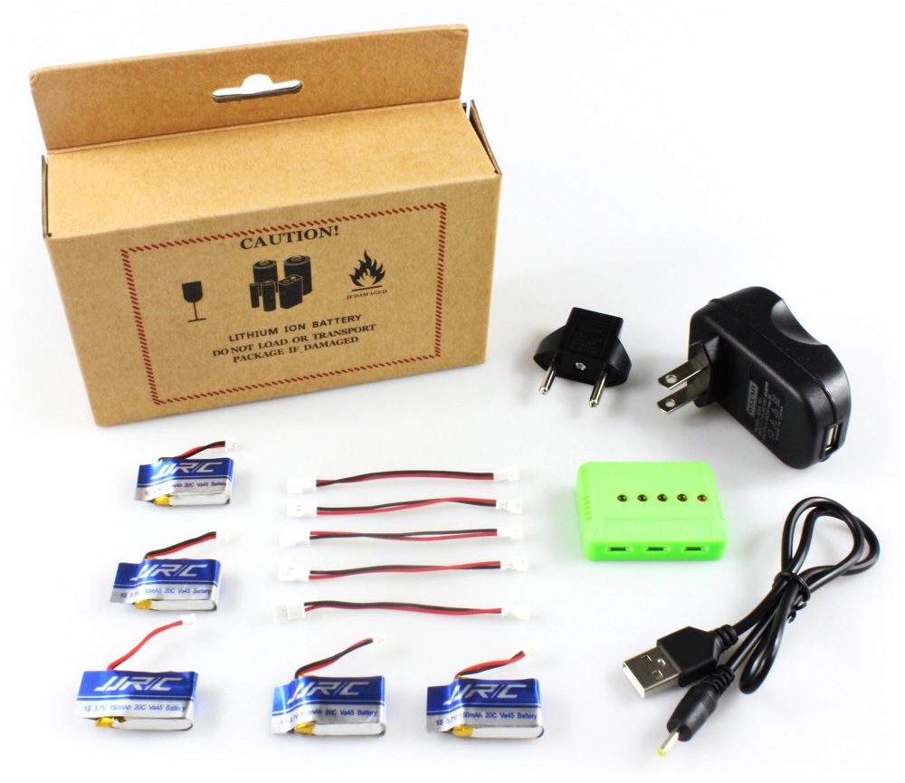 Original JJRC 5-in-one Battery and Charger Set B Quadcopter Spare Part for H30C