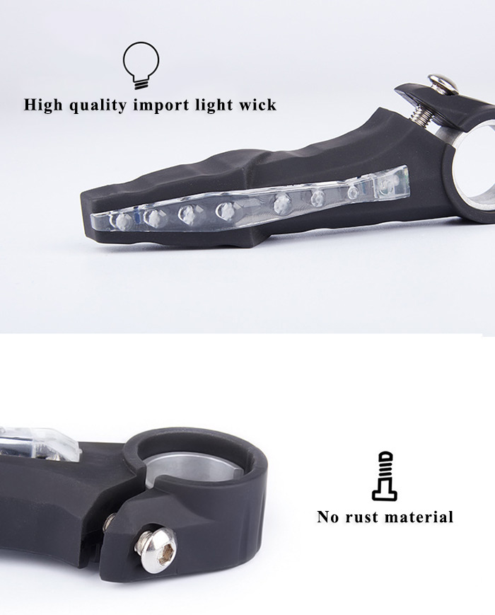 Bicycle Handlebar Light Turn Signal Lamp Super Bright for Cycling