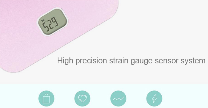YESHM YHB1548 Portable Precision Body Fat Scales Electronic Personal Weighing Tool with LCD Display
