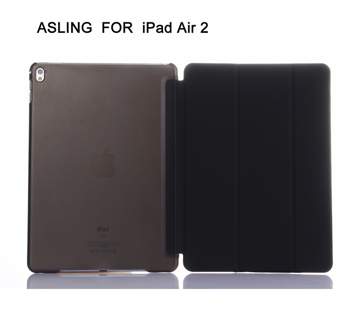 ASLING Protective PU Leather Full Cover Case for iPad Air 2 Auto Sleep Support Stand PU Leather Cover