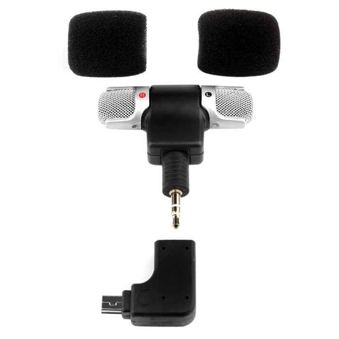 Hi-Fi Mini External Microphone with Adapter for GoPro Hero 4 Action Sports Camera