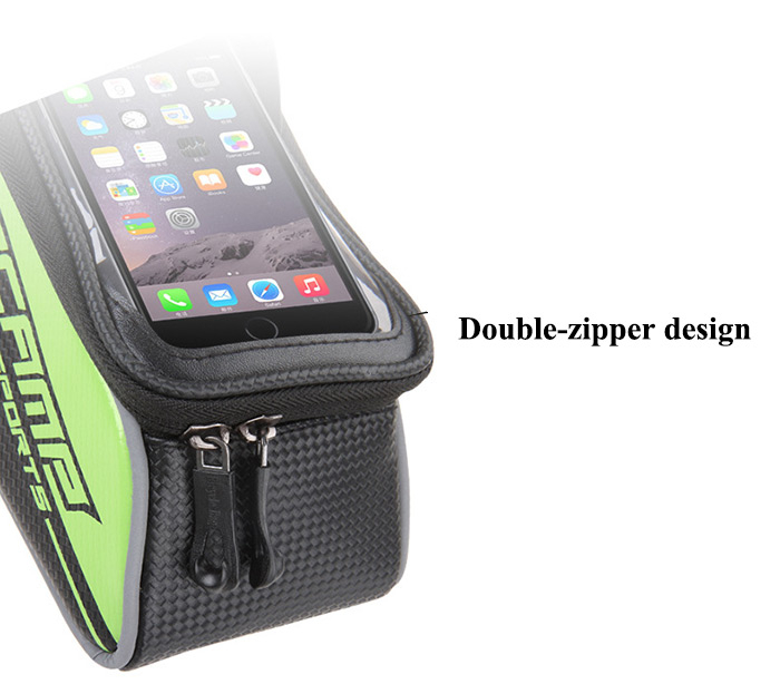 BaseCamp BC - 301 Touch Screen Water Resistant 5.5 inch Bicycle Front Tube Bag for Cycling