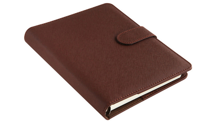 Deli A5 8.5 inch PU Stationery Leather Notebook 100 Page