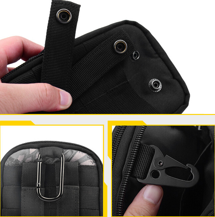 BBKULE 12L Tactical Waist Pack for Outdoor Cycling 5.5 inch Cell Phone Pockets