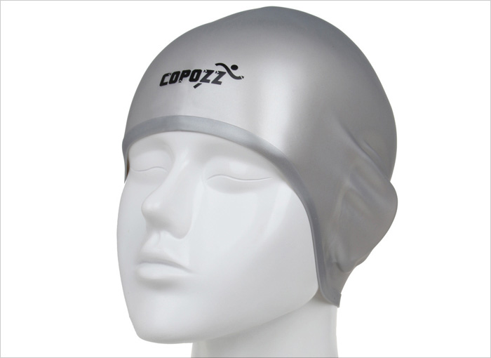 COPOZZ Professional 3D Ear Protection Swimming Cap