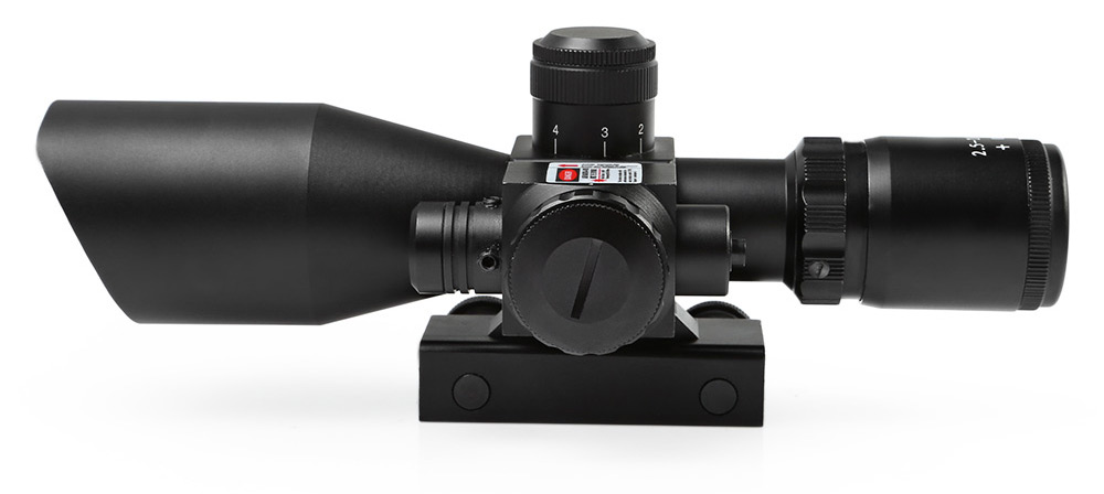 Tactical Red Green Mil Dot Reticle Telescope