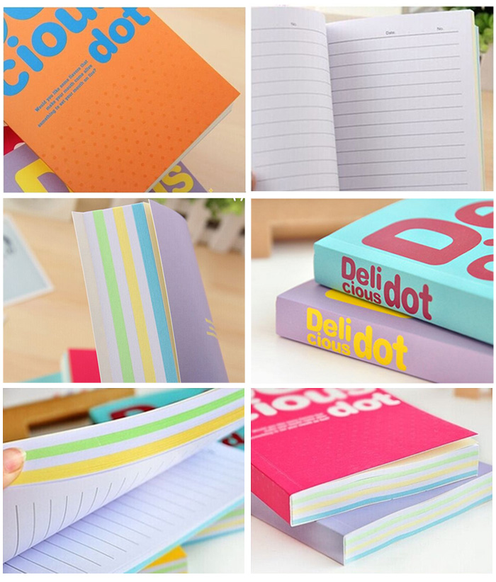 Deli BZ - 100 Colorful Small Note Book 150 Pages - 5PCS