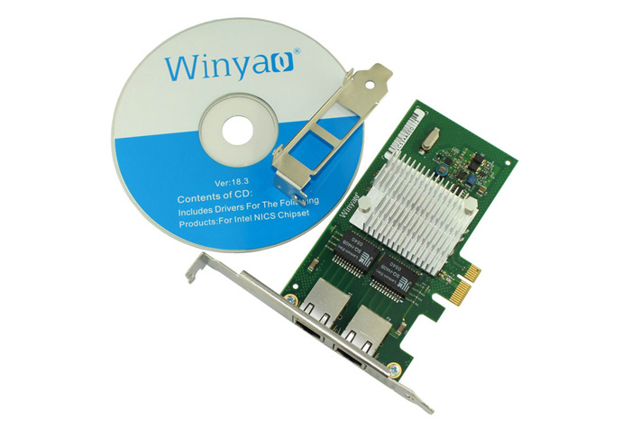 Winyao WY580T 10 / 100 / 1000Mbps Gigabit Ethernet LAN Network Server Adapter