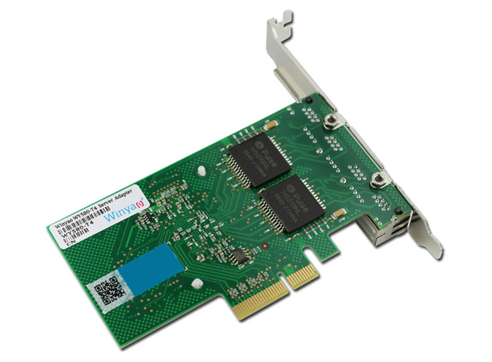 Winyao WY580 - T4 Intel 82580 Network Converter Card 10 / 100 / 1000Mbps Computer Hardware
