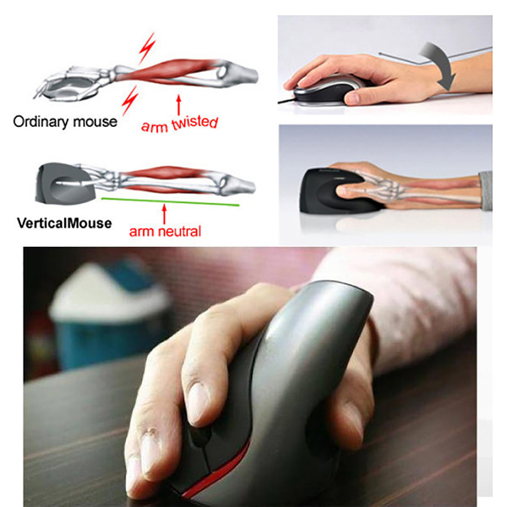 A889 Wireless Gaming Ergonomic Design Optical Vertical 2400DPI Mouse